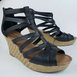 American Eagle Wedge Heel Zip Up Strappy Gladiator